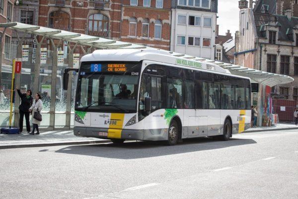 De Lijn : Leuven Hybride bus Van Hool